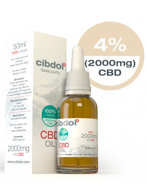 Cibdol 50ml CBD oil 4% CBD (2000mg)