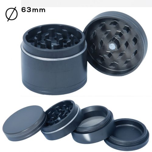 4 Part Aluminium Hard Grinder 63mm