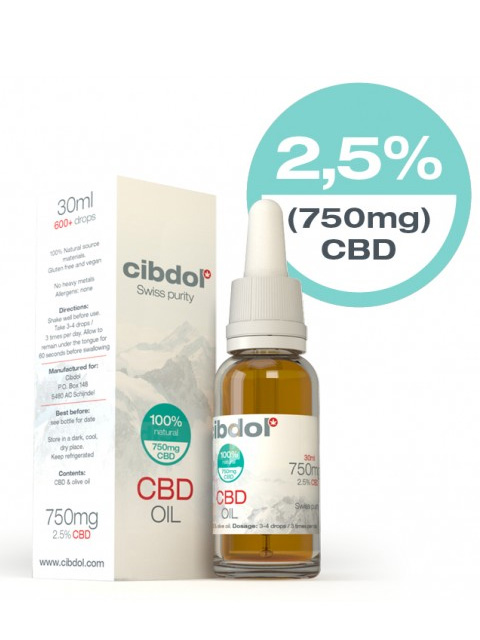 Cibdol 10ml CBD oil 2,5% CBD (250mg)
