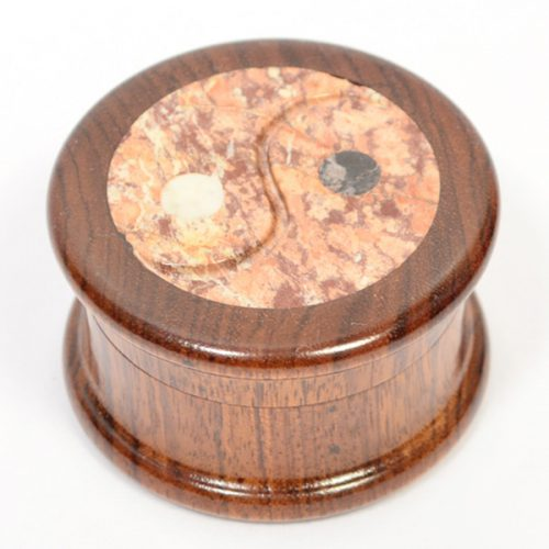 Carved Wood and Stone Mix Grinder