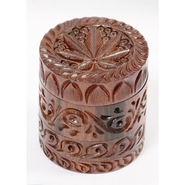 Carved Wooden Herb Grinders