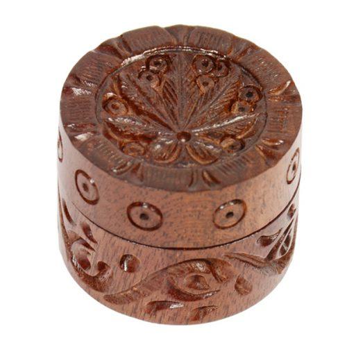 Carved Wooden Herb Grinders